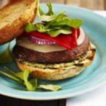Grilled Portobello Burgers with Pesto Mayo recipe