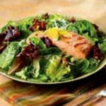 Grilled Salmon with Citrus Salsa and Baby Greens recipe