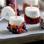 Halloween Dipped Marshmallow Pops recipe