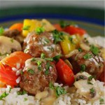 Italian Meatballs with Peppers recipe