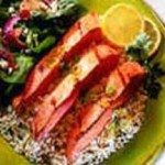 Lemon & Ginger Grilled Alaska Salmon Strips recipe