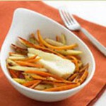 Les Freres with Carrot and Apple Salad recipe