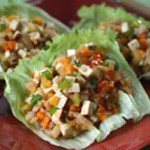 Lettuce Cups with Flavored Tofu & Walnuts recipe