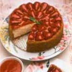 Light and Luscious Strawberry Cheesecake with Fresh Strawberry Sauce recipe