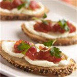 Mascarpone Crostini and My Mother's Tomato Conserve recipe