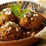 Meatballs with Chipotle Chile Sauce with Queso Fresca Cheese recipe