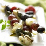 Mediterranean Grilled Mozzarella Skewers recipe
