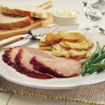 Molasses Black Pepper Glazed Ham recipe