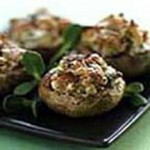 Mushrooms Stuffed with California Walnuts, Smoked Bacon & Goat Cheese recipe
