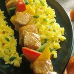 Mustard-Bourbon Pork Kabobs recipe