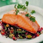 Pan-Fried Salmon with California Pistachio and Green Bean Salsa recipe