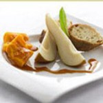 Pear Cider Reduction with Aged Cheddar Cheese recipe