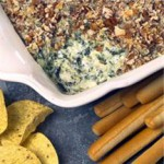 Pecan-Crusted Spinach Artichoke Dip recipe