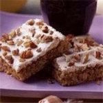 Pecan Nougat Oatmeal Bars recipe