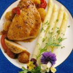 Pork Chops with Caramelized Onions and Peppers recipe