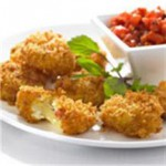 Prosciutto and Fontina Fritters with Tomato Fondue recipe
