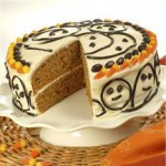 Pumpkin Spice Ghost Cake recipe