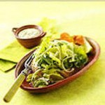 Romaine with Creamy Poblano Chile Dressing and Cotija Cheese recipe