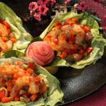 Shrimp and Vegetables In Lettuce Cups recipe