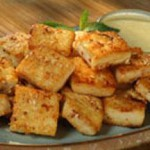 Soothing Tofu with Yogurt Mint Sauce recipe