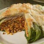 Stuffed Escarole with Fregola and GranQueso® Cheese recipe