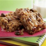 Sweet & Salty Chewy Pecan Bars recipe