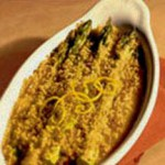 Three Cheese Asparagus Gratin with Wisconsin Gouda, Muenster and Asiago recipe