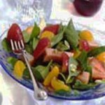 Turkey Spinach Salad with Currant Dressing recipe