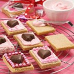 Valentine Cookie Cards recipe