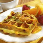 Cheddar, Ham and Chive Waffles recipe