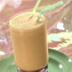 Choco-Banana Peach Smoothie recipe