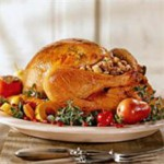 Herb Butter Roasted Turkey with Bourbon Buttered Apple Slices recipe