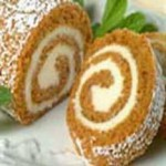 Pumpkin Cake Roll with Cream Cheese Filling recipe