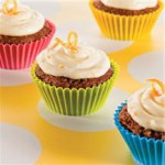 Pumpkin Carrot Cupcakes with Orange-Cream Cheese Frosting recipe