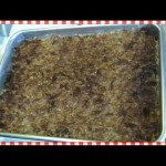 Awesome Oat Cake with Broiled Topping recipe