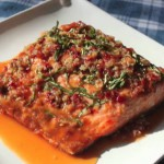 Baked Salmon with Orange-Ginger Sauce recipe