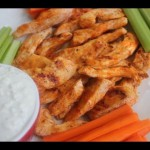 Buffalo Shrimp with Gorgonzola Dip recipe