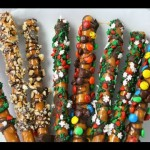 Candied Pretzel Wands recipe