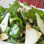 Cheese and Nutty Pear Salad recipe
