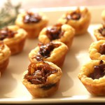 Cheese in Pastry Tarts with Cheddar Cheese Sauce recipe