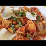 Chicken Cacciatore over Pasta recipe