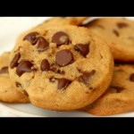Chocolate Chip-Peanut Butter Cookies recipe
