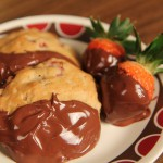 Chocolate Dipped Almond Cookies recipe