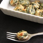 Double Stuffed Spinach and Bacon Eggs recipe