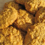 Frosted Pumpkin-Walnut Cookies recipe
