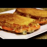 Grilled Feta Cheese and Tomato Sandwiches recipe