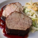 Grilled Loin of Pork with Tart Cherry Sauce recipe