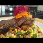 Grilled Swordfish with Sweet Corn Relish recipe
