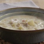 Hearty New England Clam Chowder with Bacon and Potatoes recipe