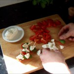 Insalata Caprese with Pesto Vinaigrette recipe